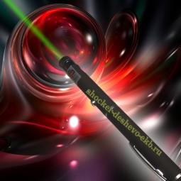 Зеленая лазерная указка 50 мВт с насадкой