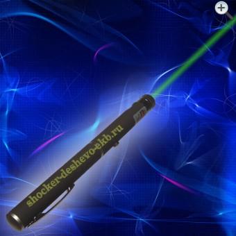 Зеленая лазерная указка 50 мВт с 4 насадками